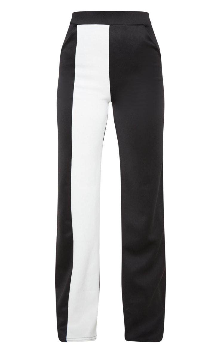 Pantalon ample à parties contrastées blanches en néoprène 3