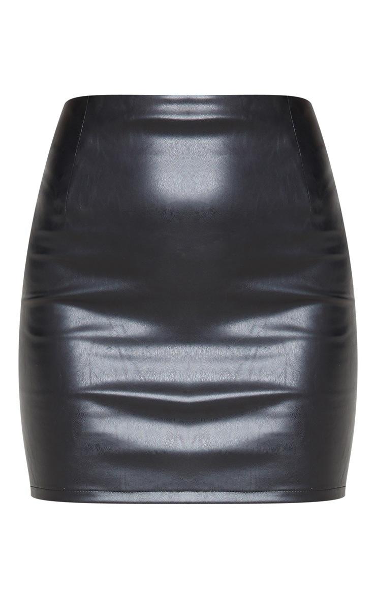 Black PU Mini Skirt 3
