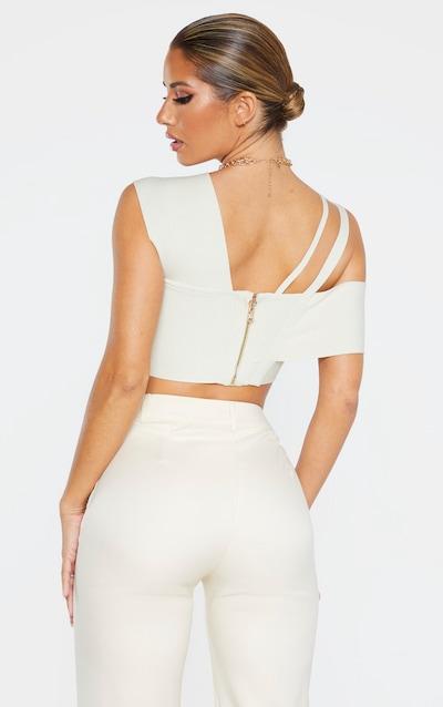 Cream Bandage Aysmmetric Crop Top