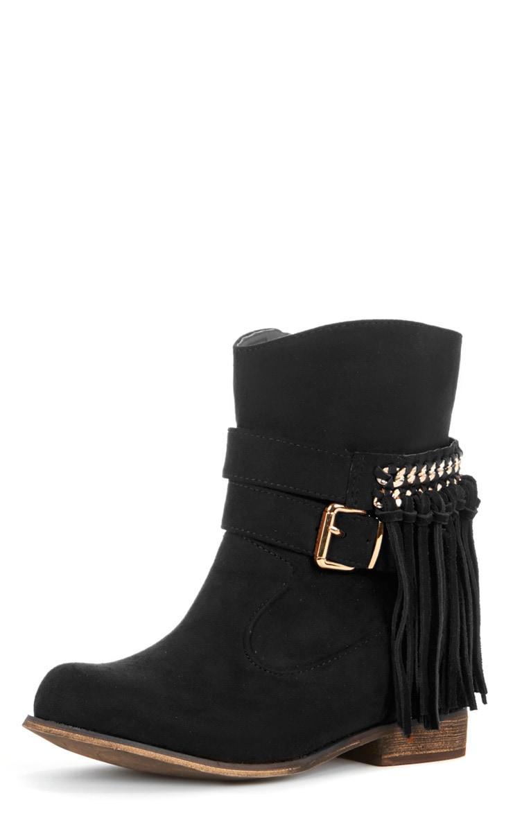 Trixie Black Tassel Boots  2