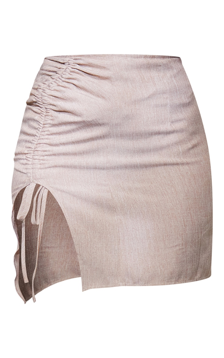 Petite Stone Ruched Bodycon Skirt 6