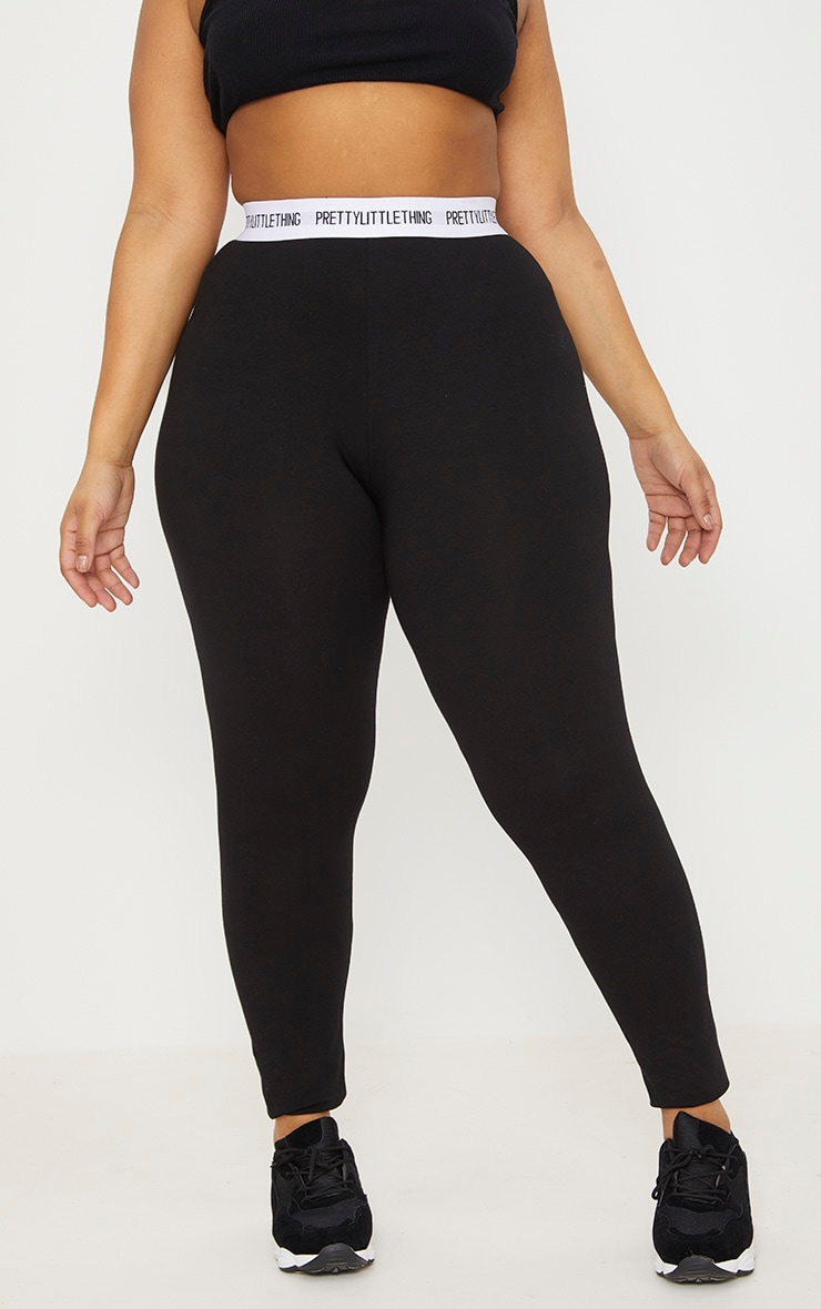 PRETTYLITTLETHING Plus Black Leggings 2