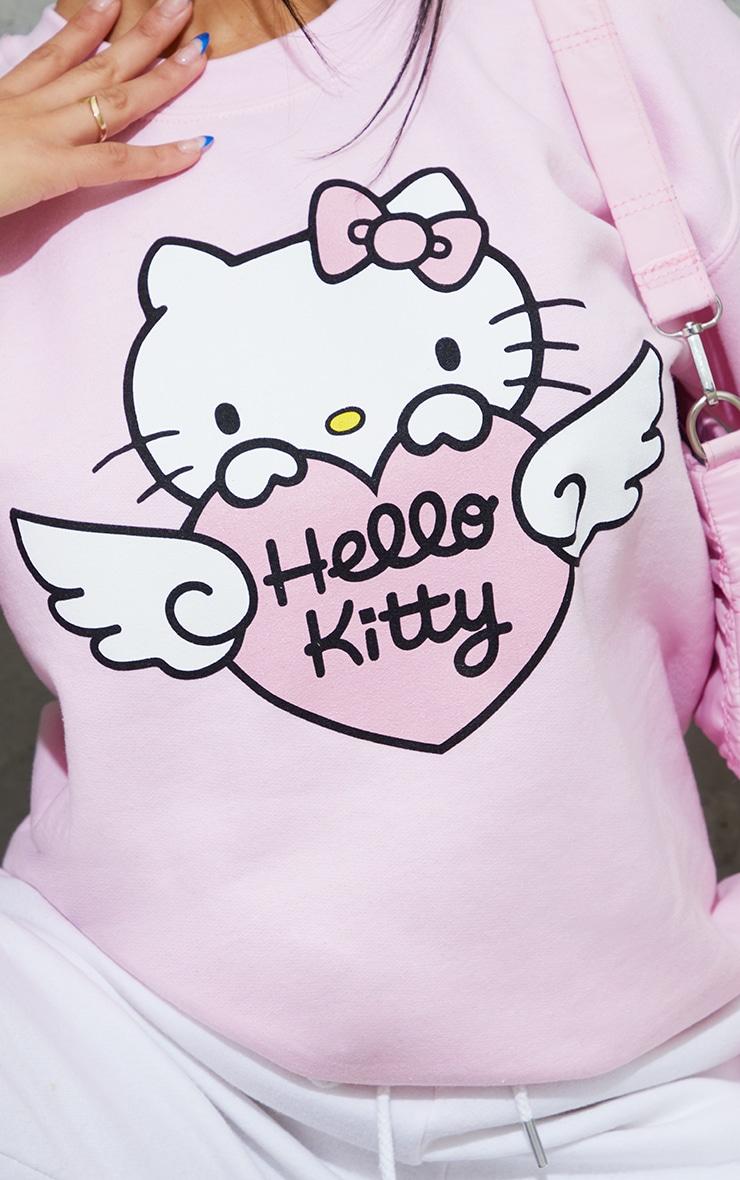 Pink Hello Kitty Printed Sweatshirt 4