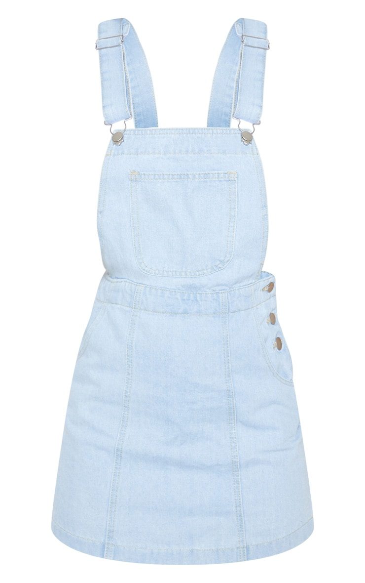 Light Wash Denim Dungaree Dress 3