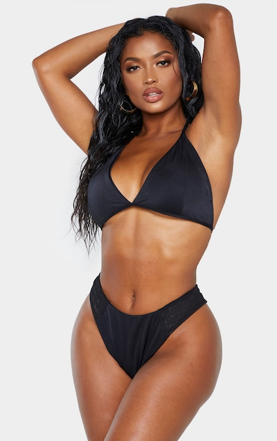Shape Black Triangle Bikini Top