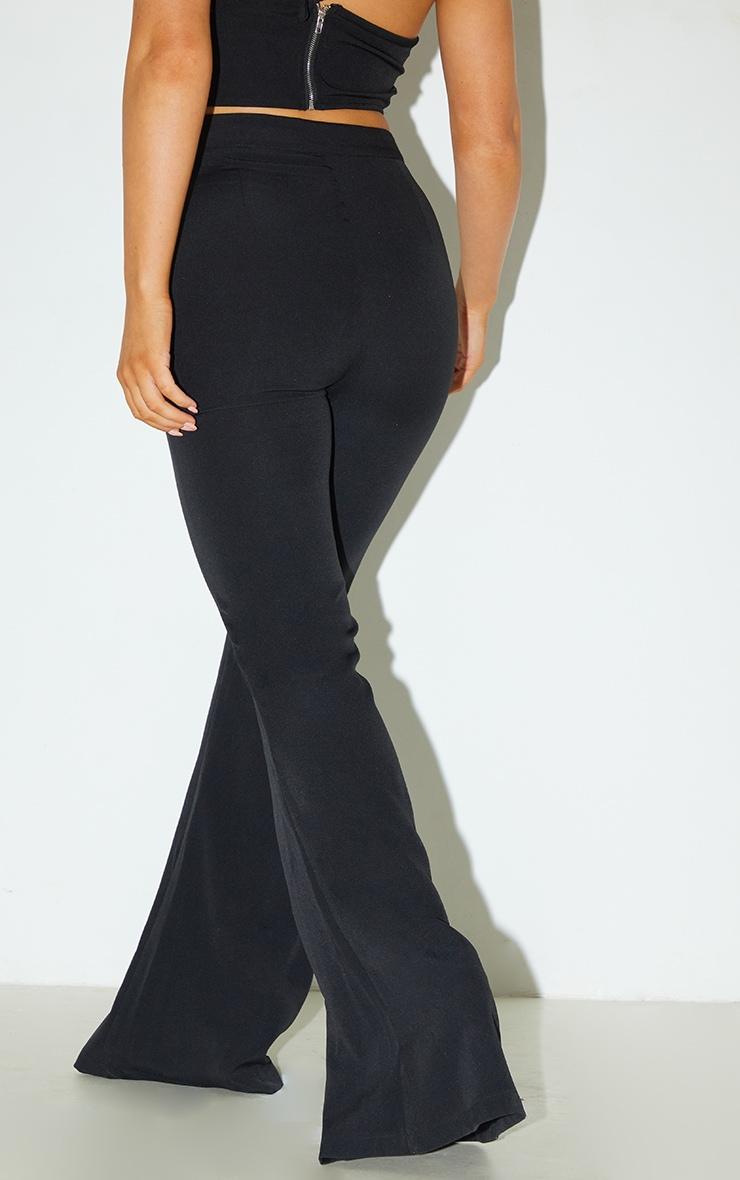 Black Woven Flared Pants 3