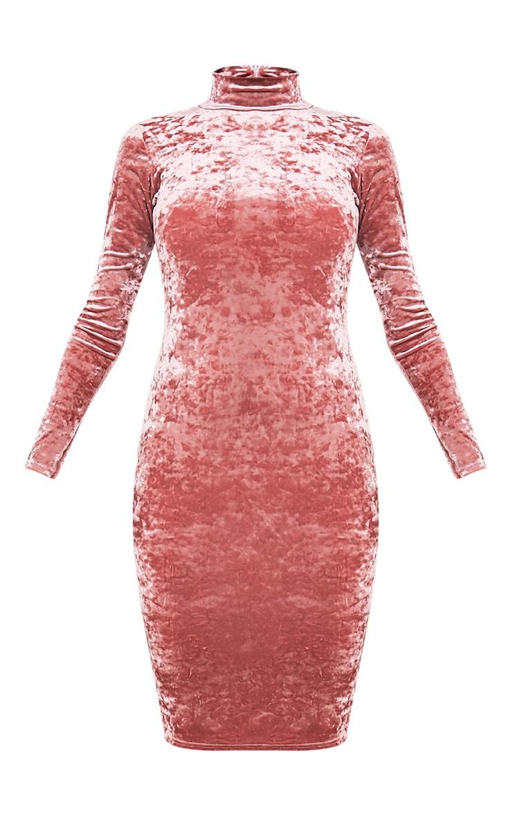 Amlia Rose Velvet High Neck Midi Dress 3