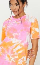 Orange Tie Dye T Shirt Dress 4