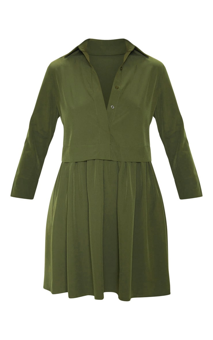 Olive Layer Shirt Dress 3