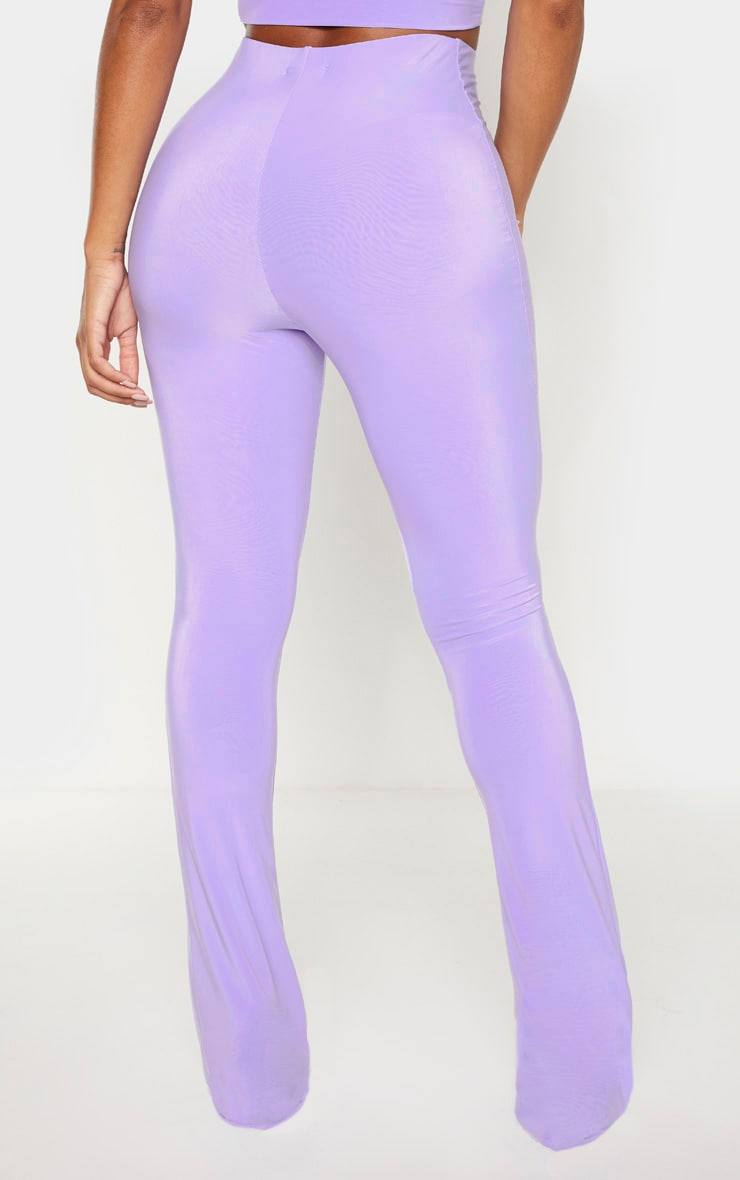 Shape Lilac High Waist Slinky Flared Trouser  4