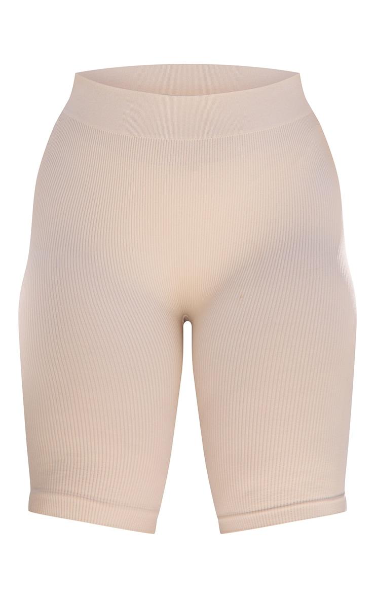 Plus Taupe Contour Rib Cycle Shorts 6