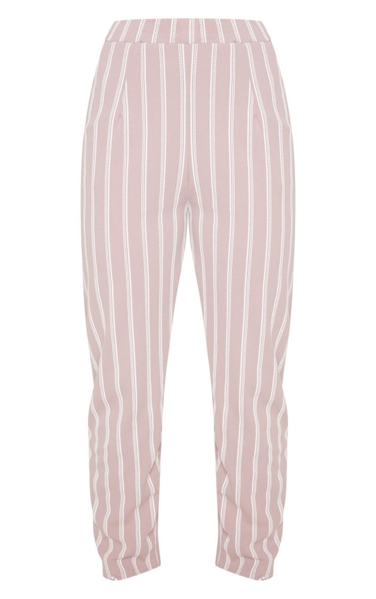 Lilac Stripe Print Cigarette Pants 3