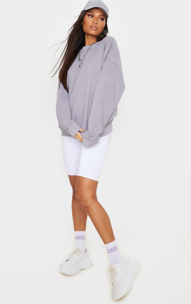 Lilac Washed Oversized Sweater