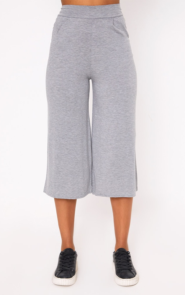 Grey Basic Culottes 2