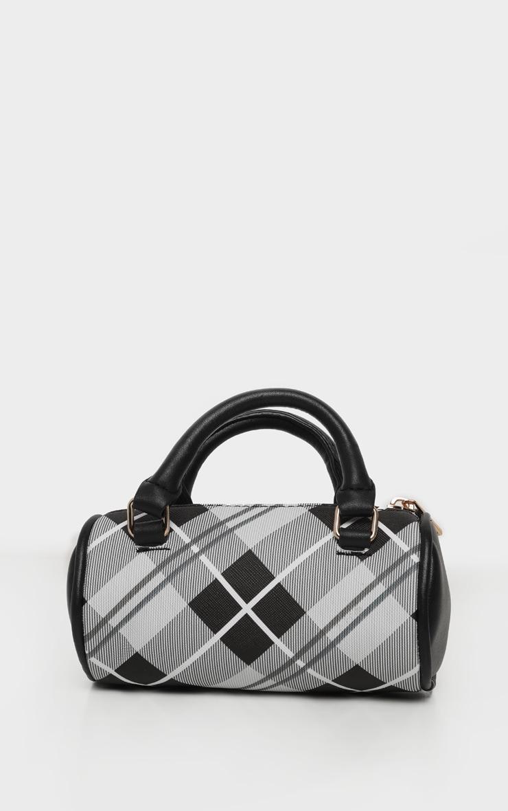 Black Tartan Mini Bowling Bag 2