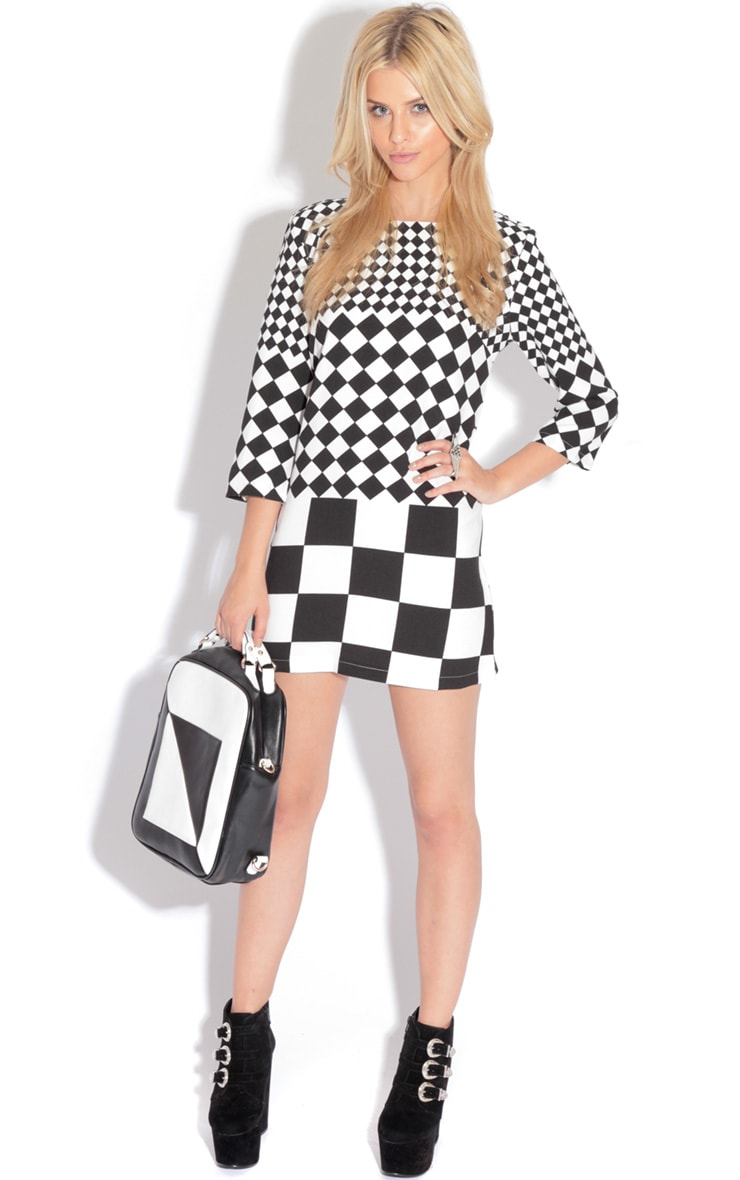 Georgia Monochrome Shift Dress 4