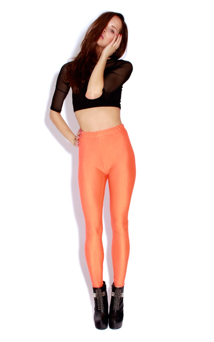 Chloe Orange High Waisted Disco Pants 3