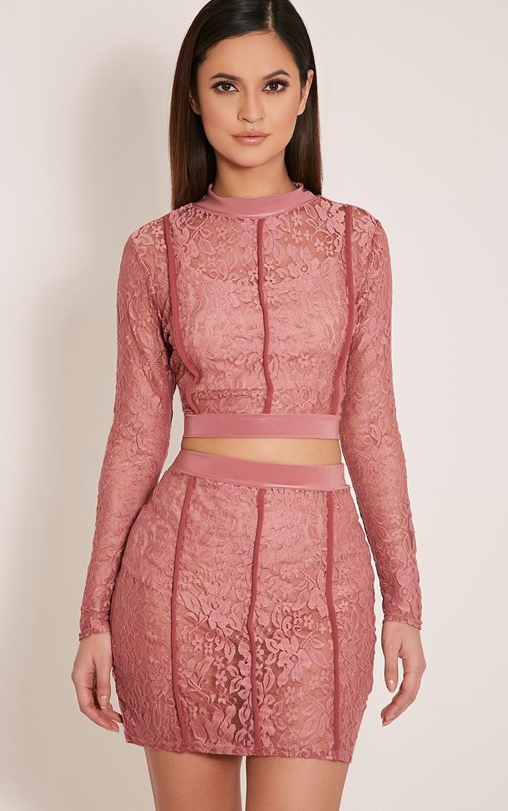 Oliviana Rose Sheer Lace Crop Top 1