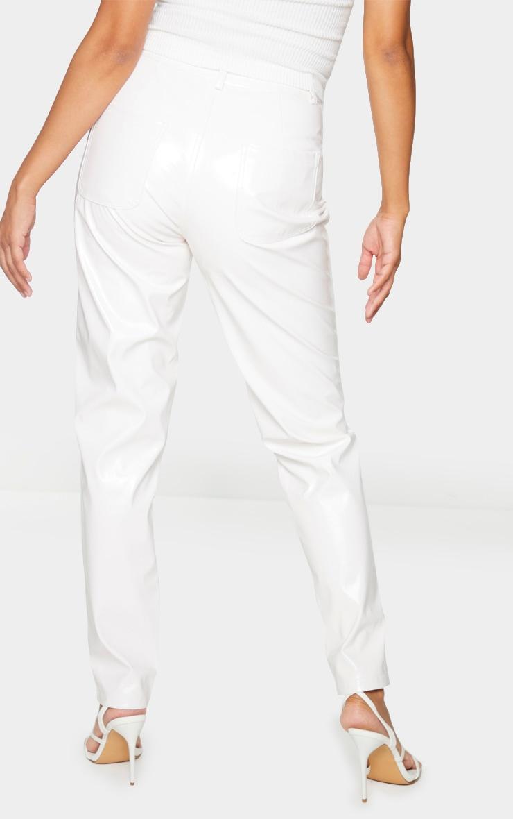 White Skinny Vinyl Pants 3