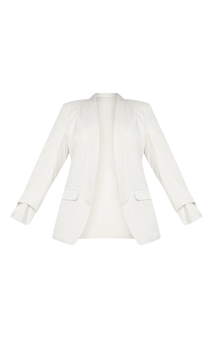Plus Stone Ruched Sleeve Oversized Blazer 5