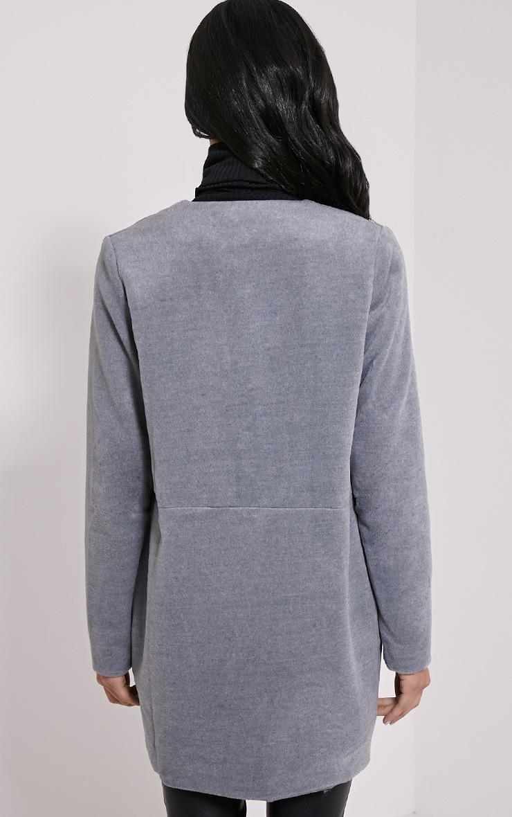 Louella Grey Double Layer Oversized Coat 2