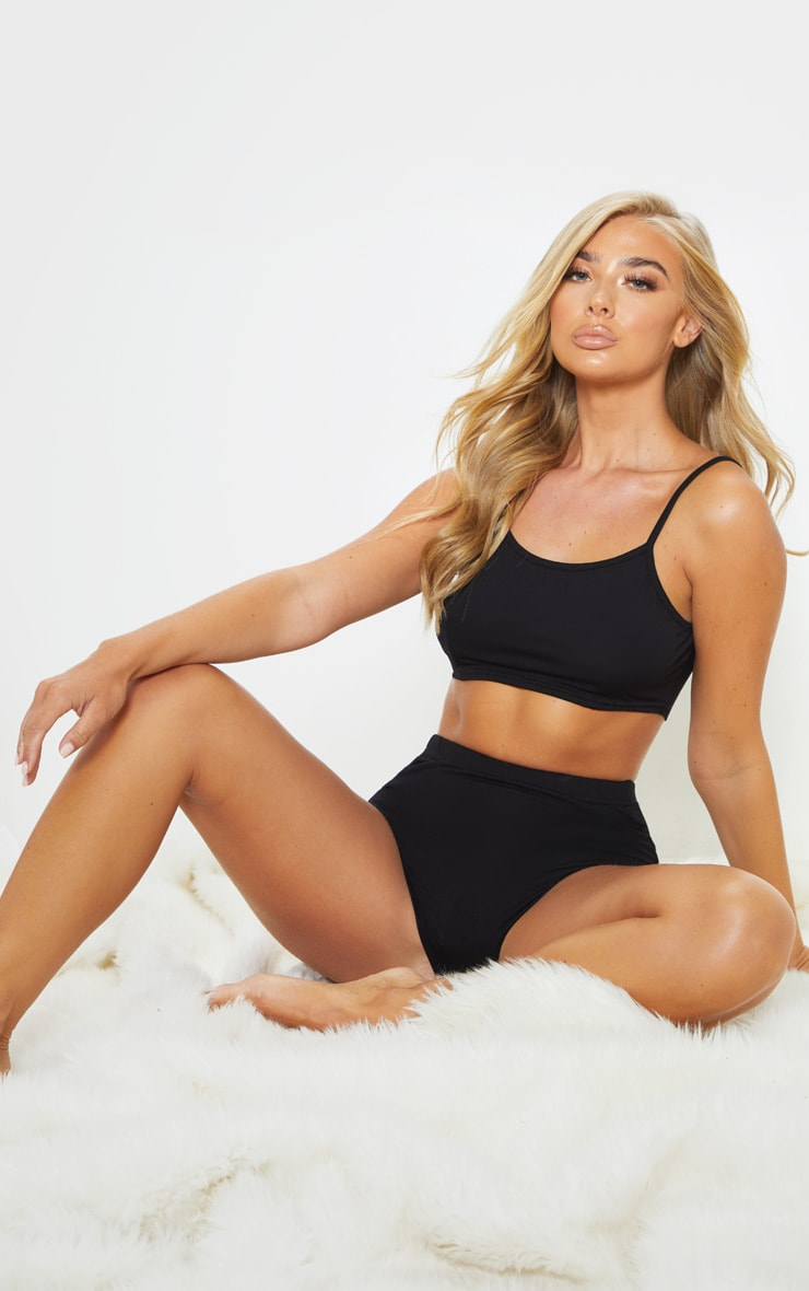 Basic Black Bralet & Panties Set  4