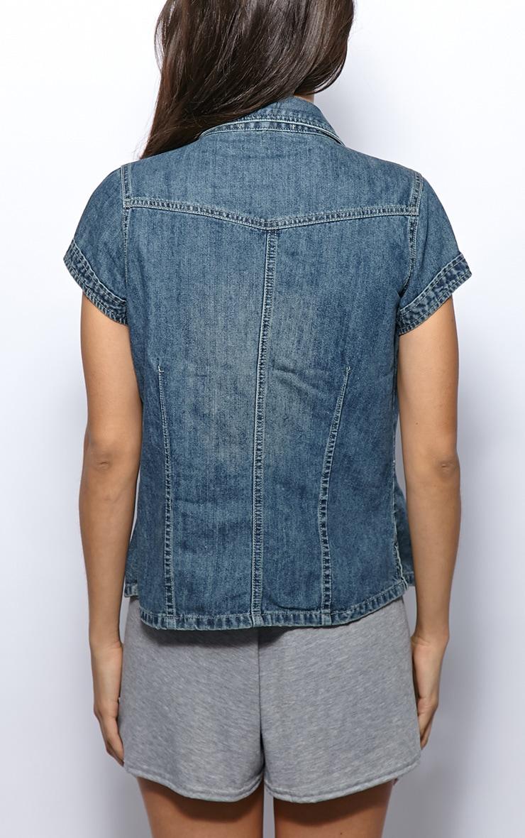 Eliza Denim Short Sleeve Jacket  2