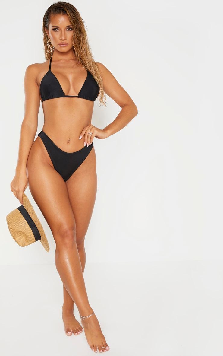 Bas de bikini brésilien Mix & Match noir très échancré 4