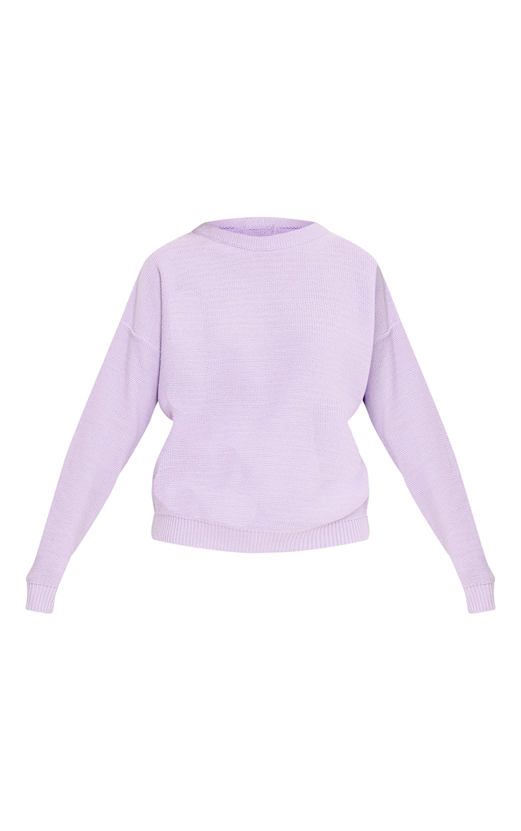 Roberta Lilac Round Neck Knitted Jumper 3