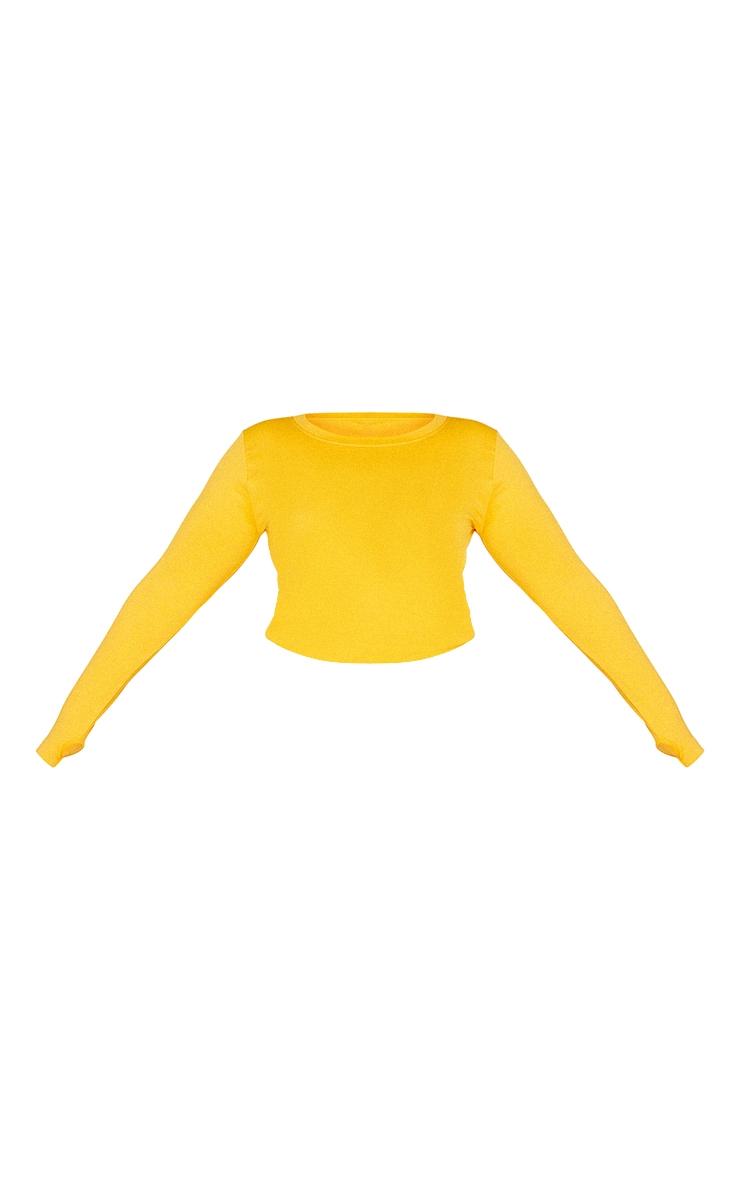 Plus Orange Basic Detail Seamless Gym Top 5