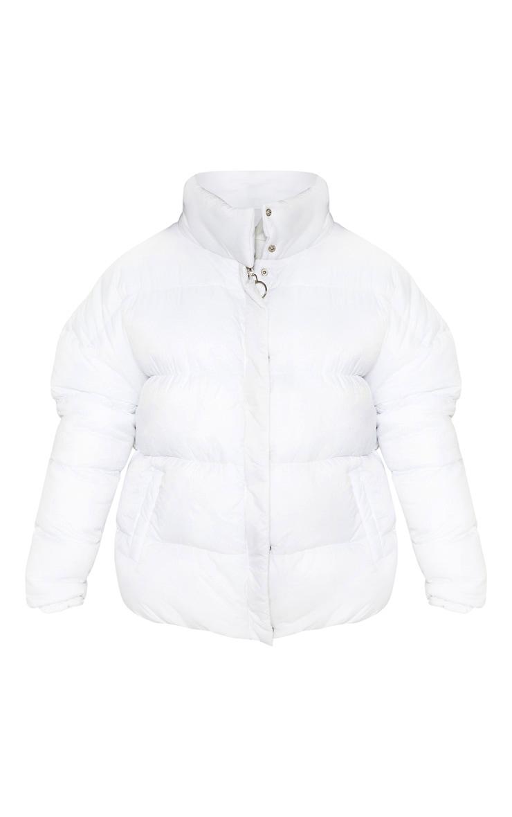 White Oversized Boyfriend Puffer 3