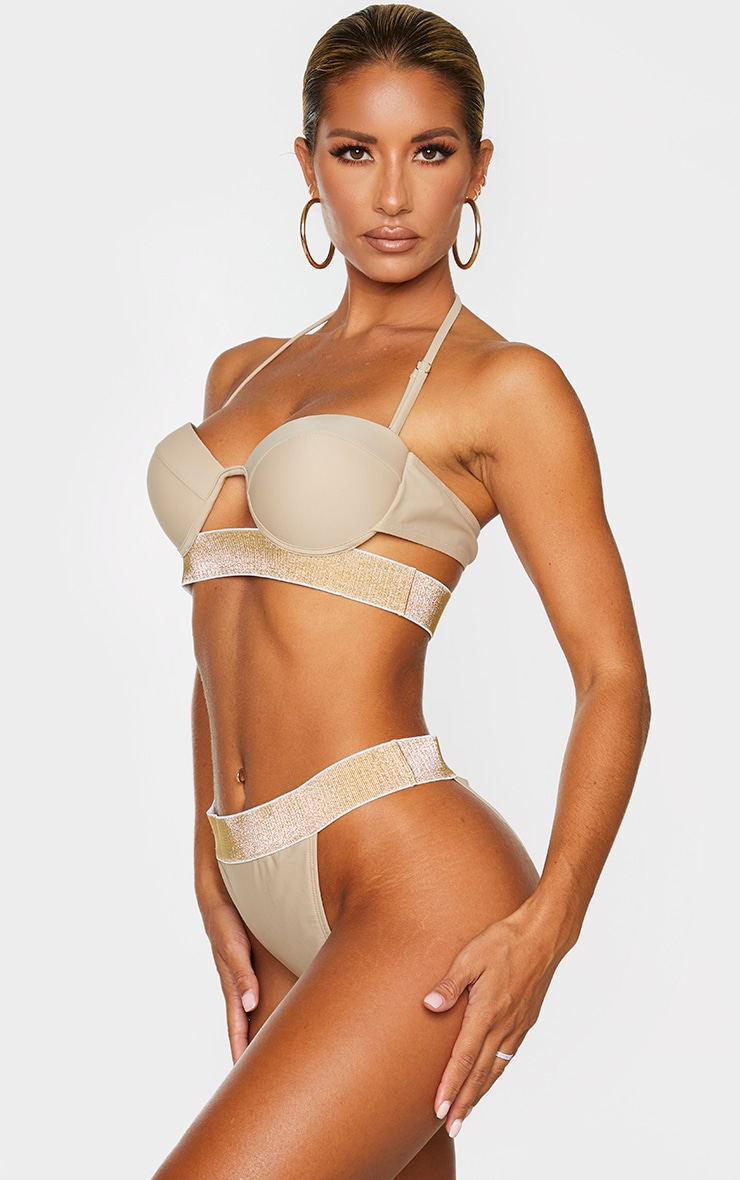Sand Glitter Waist Tanga Bikini Bottom 2