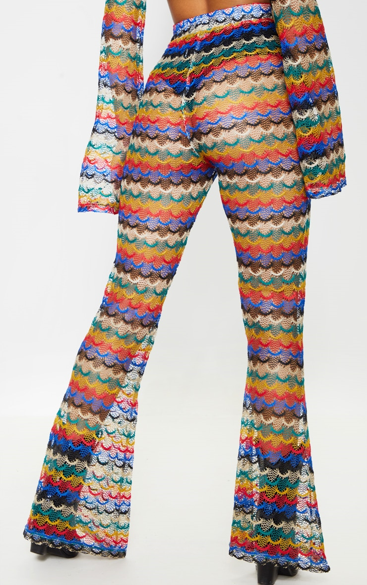 Multi Chevron Knitted Flare Pants 4