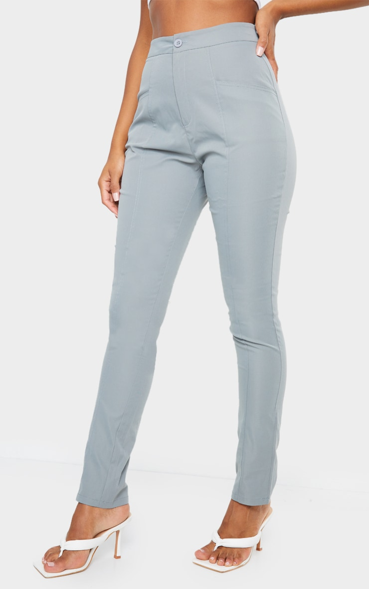 Blue Pocket Detail Skinny Trousers 2