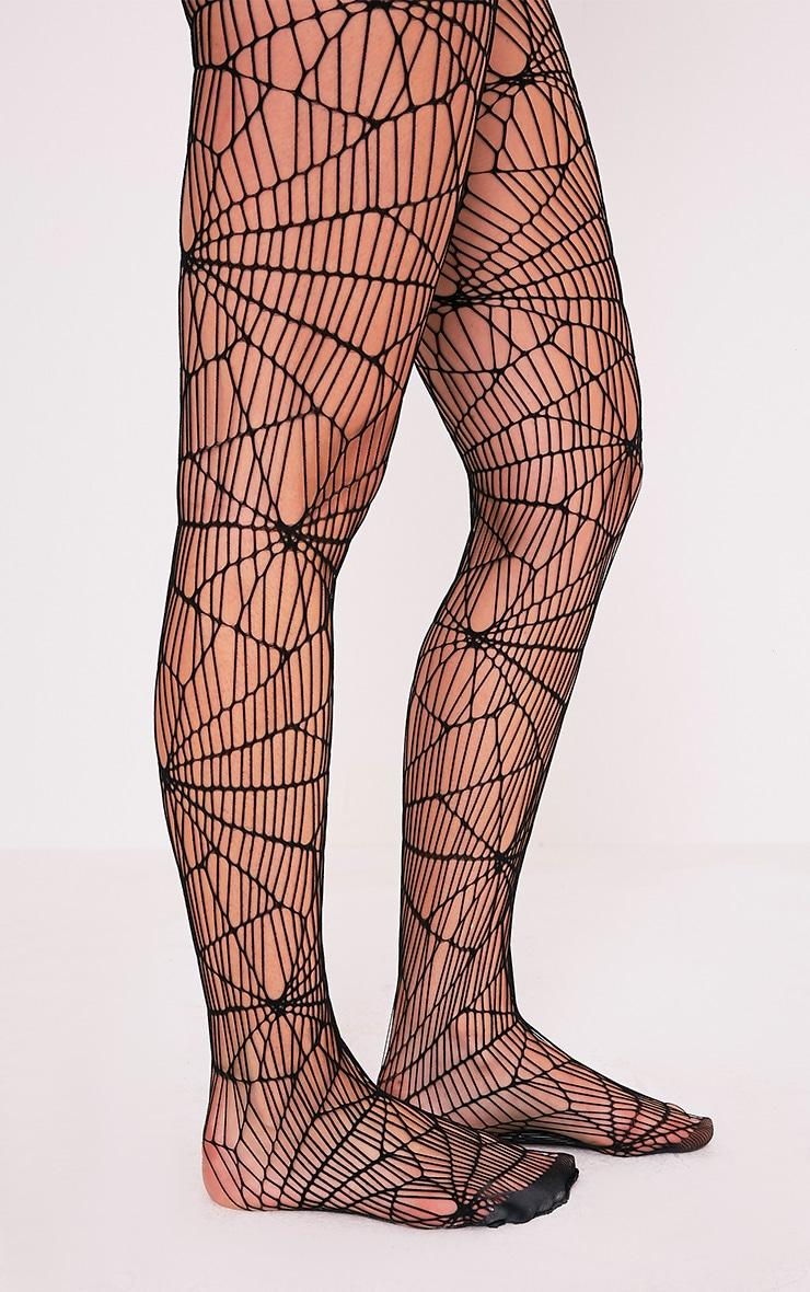 Black Cobweb Tights 1