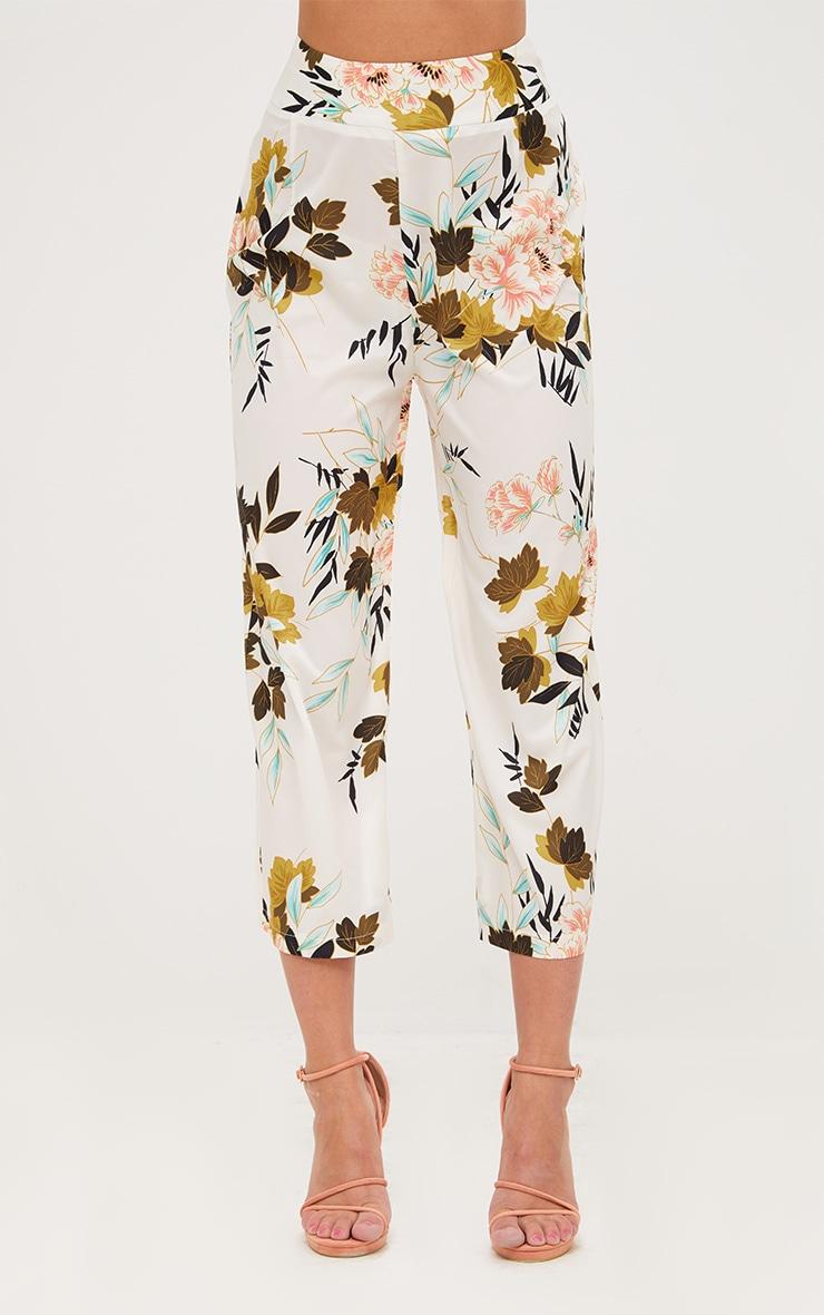Cream Floral Kimono Culotte 2