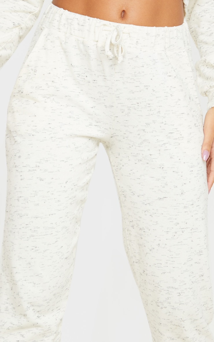 Cream Marl High Waisted Joggers 5