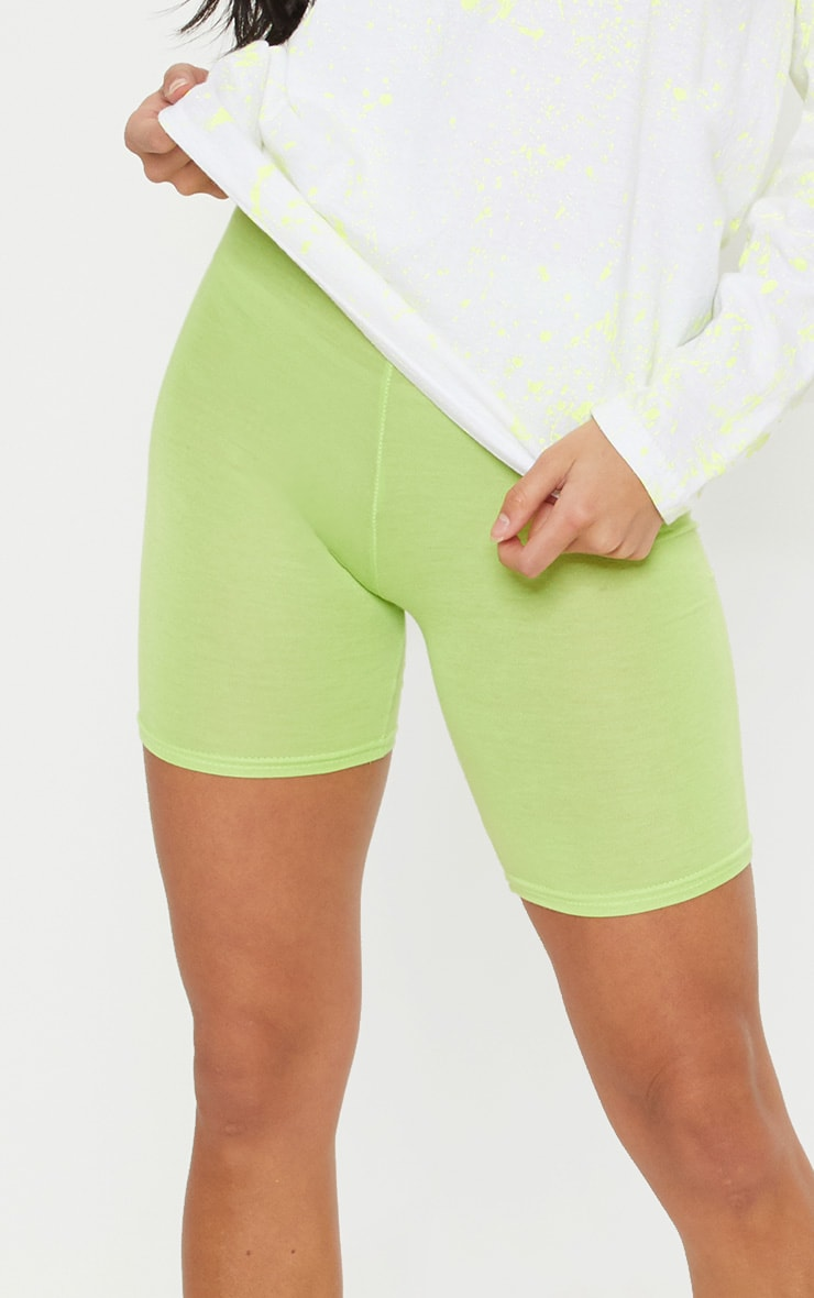 Petite Neon Lime Basic Bike Shorts 6