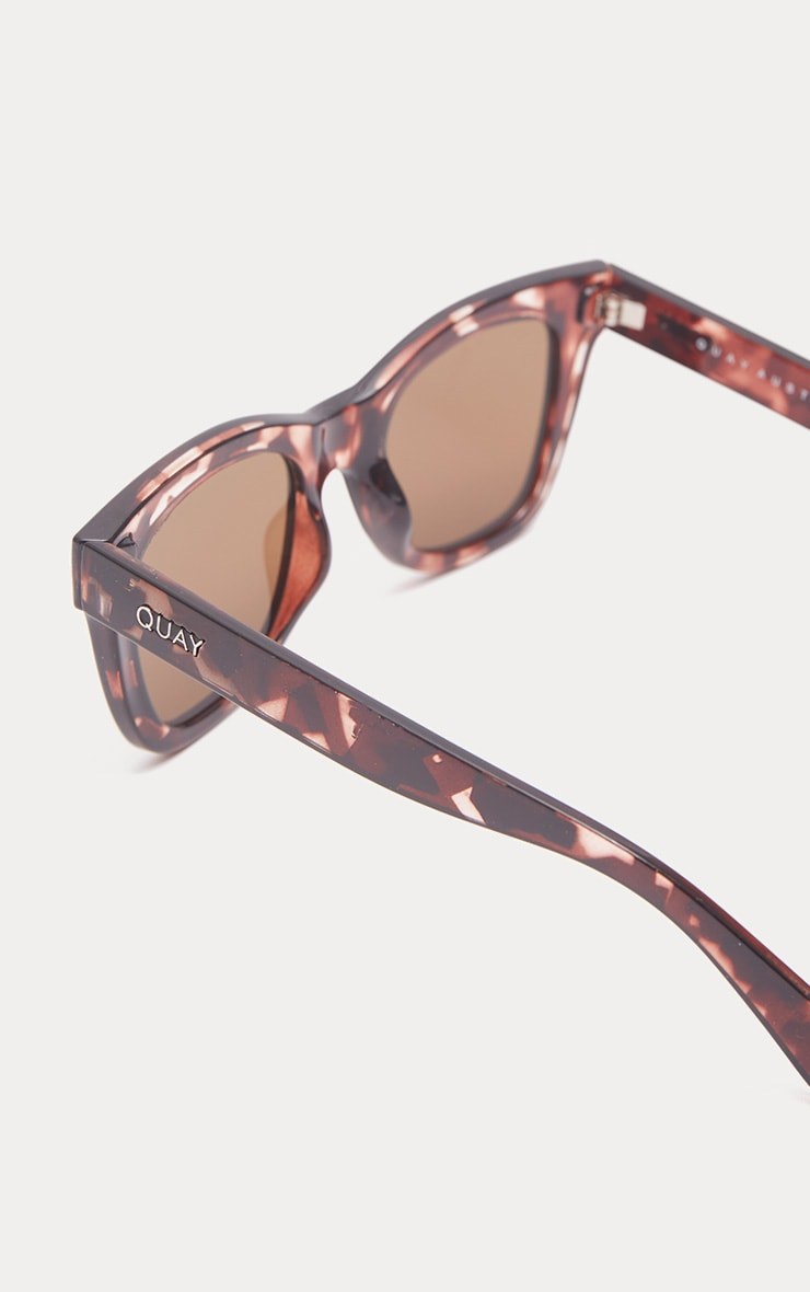 QUAY AUSTRALIA - Lunettes de soleil oversized After Hours marron 3