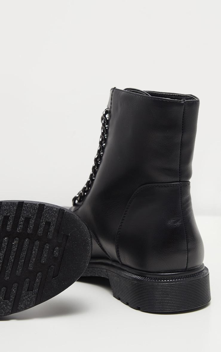 Bottines noir à zip style biker 4