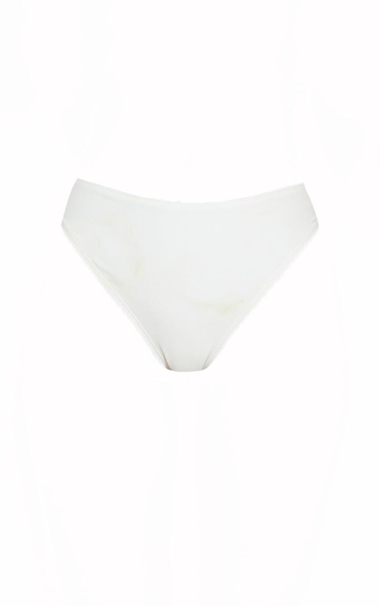 White Mix & Match Recycled Fabric Cheeky Bum Bikini Bottom 5