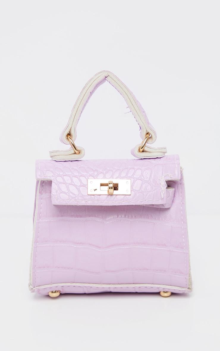 Lilac Croc Micro Mini Bag     2