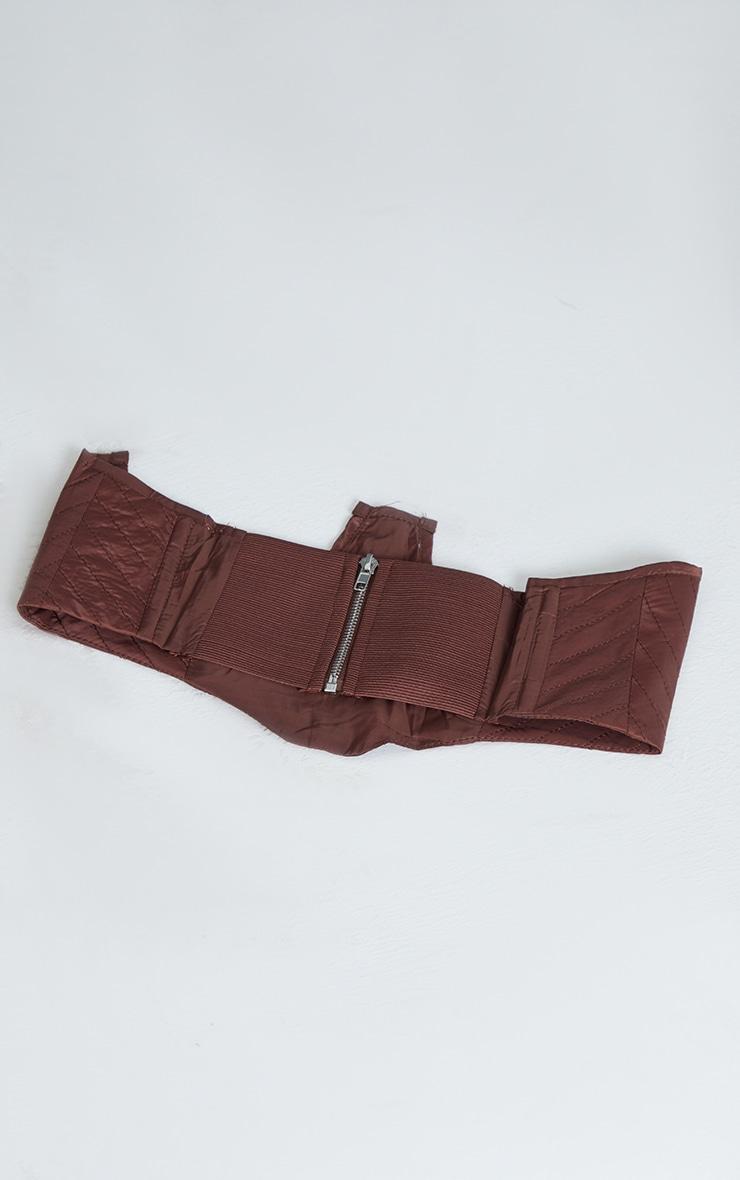 Chocolate Quilted Nylon Corset Belt 3