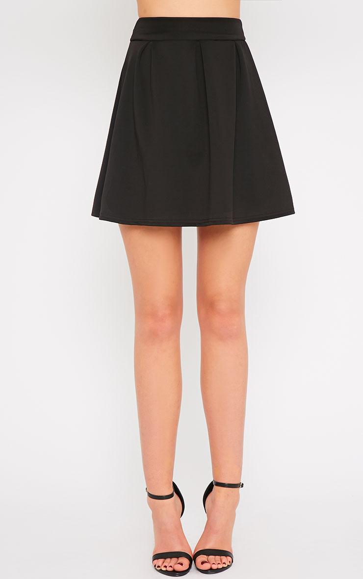 Amie Black Scuba Skater Skirt 2