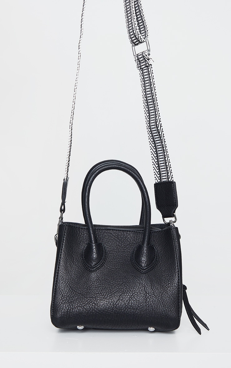 Black PU Mini Tote Bag 2