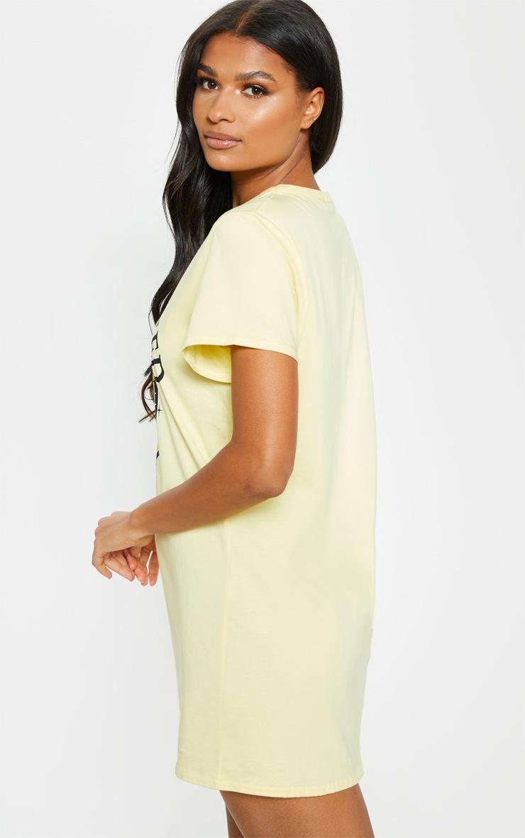 Yellow Starcrossed Oversized T Shirt Dress 2