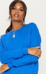 Recycled Cobalt Oversized Sweatshirt 4