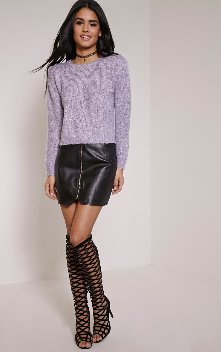 Karissa Lilac Boucle Knitted Jumper 4