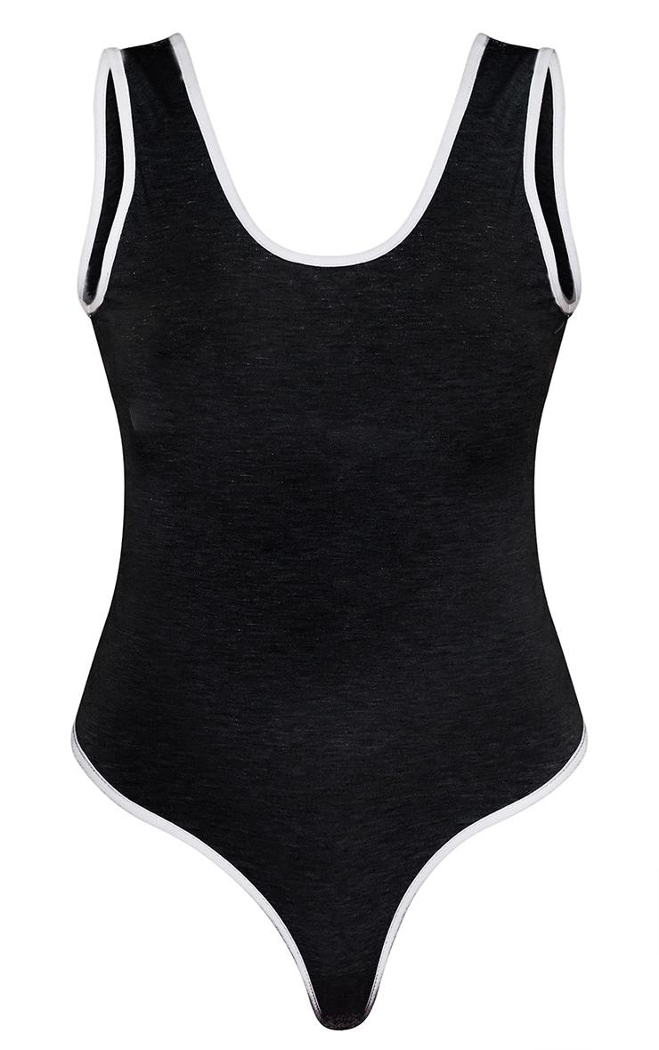 Girl Gang Binding Sleeveless Bodysuit Black 4