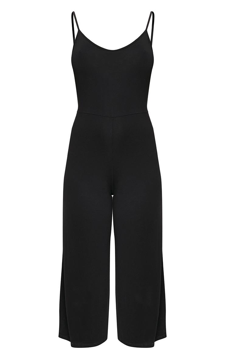 Kailyn Black Jersey Culotte Jumpsuit 3